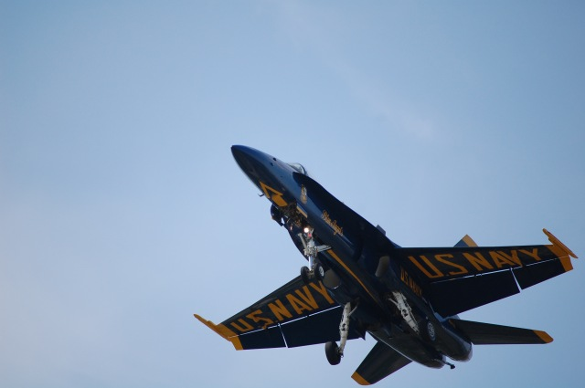 Blue Angel #5 coming in to land.